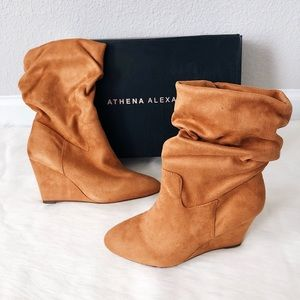 ✨New ATHENA ALEXANDER Nice Slouch Wedge Booties
